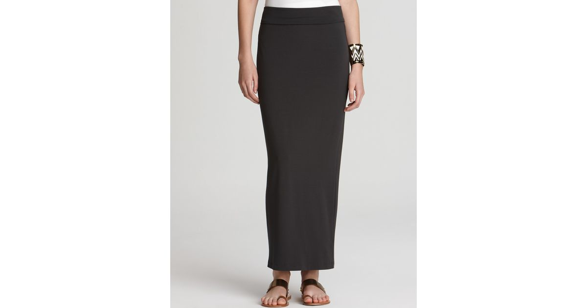 149ffd86f Eileen Fisher Foldover Maxi Pencil Skirt in Black - Lyst