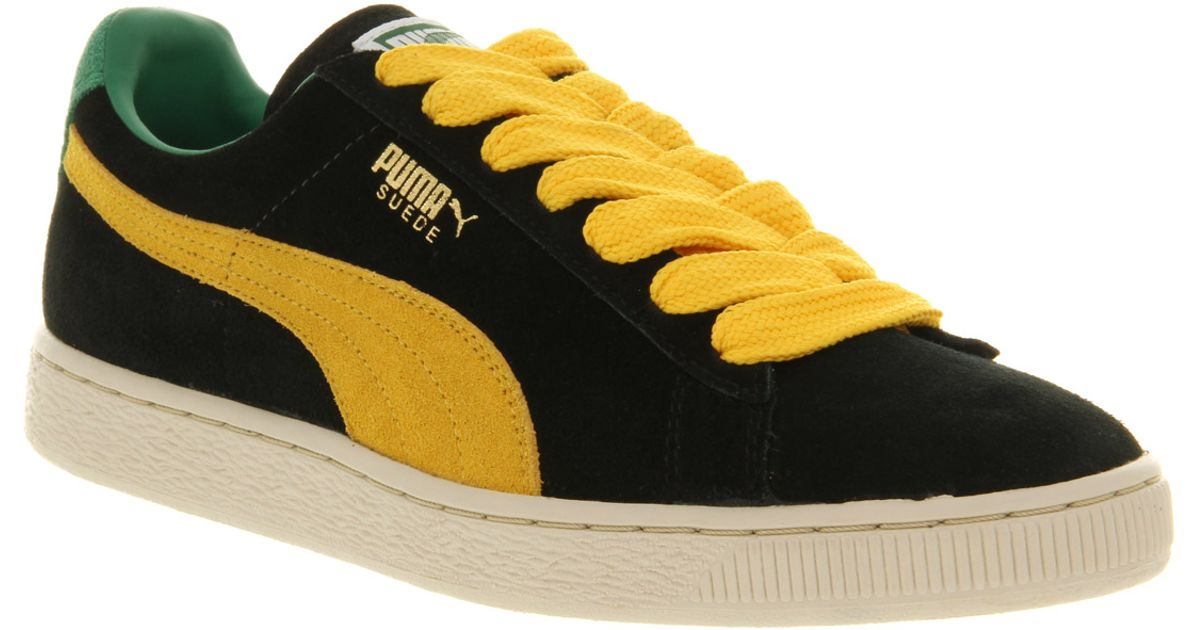be8e8c3ea9cd Lyst - PUMA Suede Classic Black yellow in Black for Men