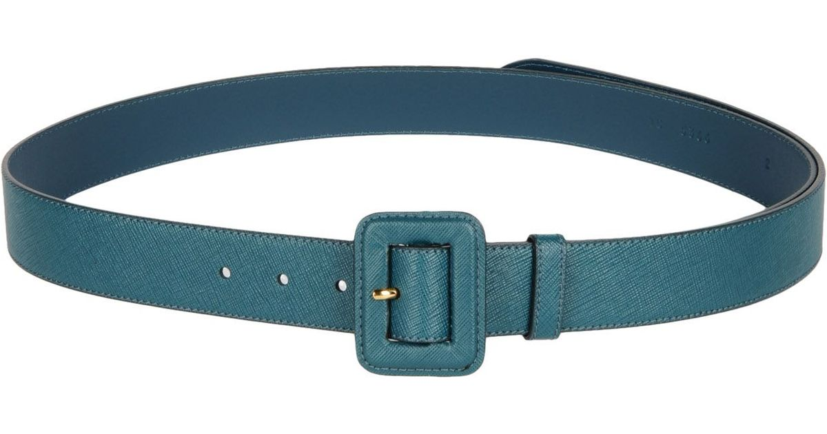 Prada Belt in Blue | Lyst