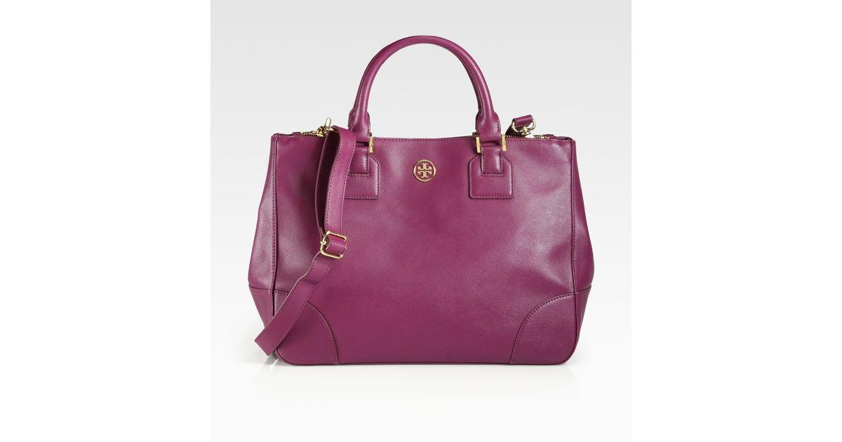 50e57e682697 Lyst - Tory Burch Robinson Double Zip Tote Bag in Purple