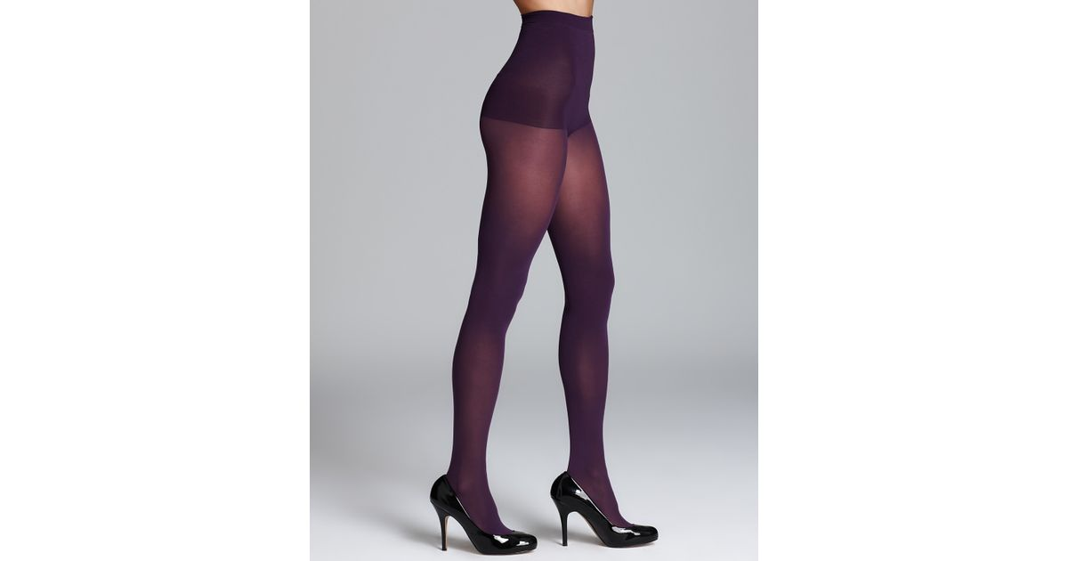 266323a5ebe Lyst - Dkny Tights Basic Opaque Coverage Control Top 412 in Purple