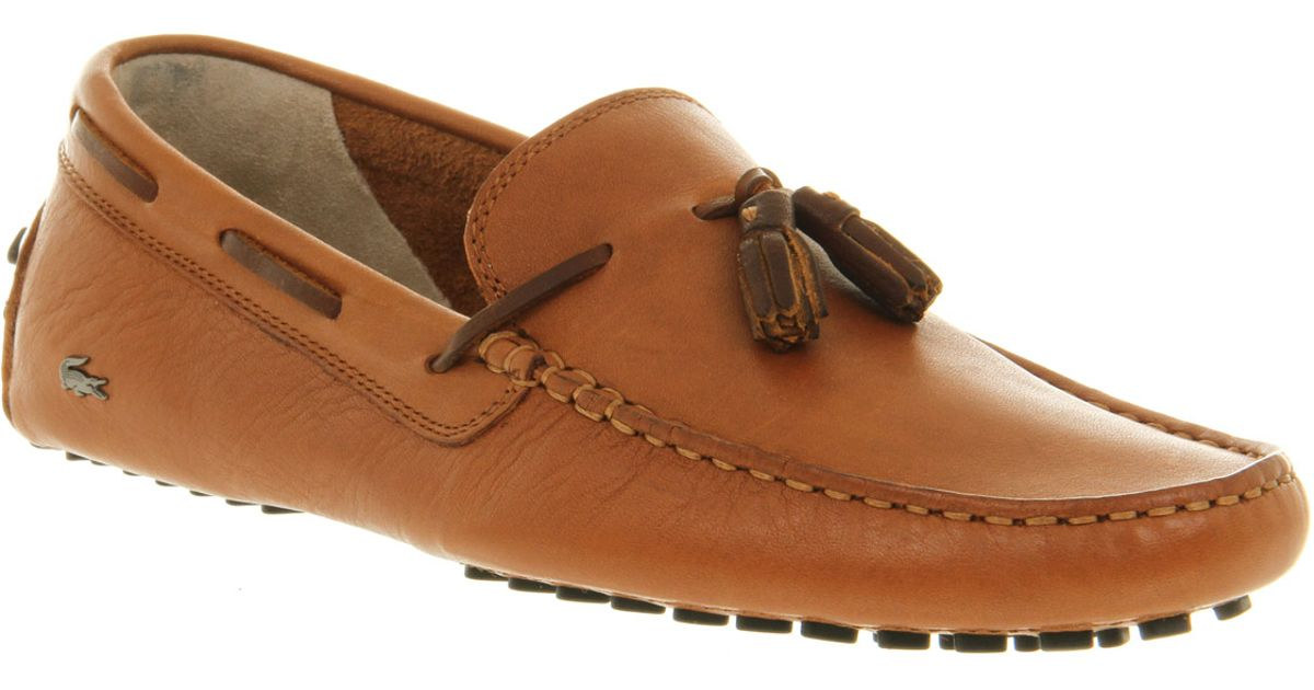 3c025e045d8eb8 Lacoste Concours Tassle Loafer Tan Leather in Brown for Men - Lyst