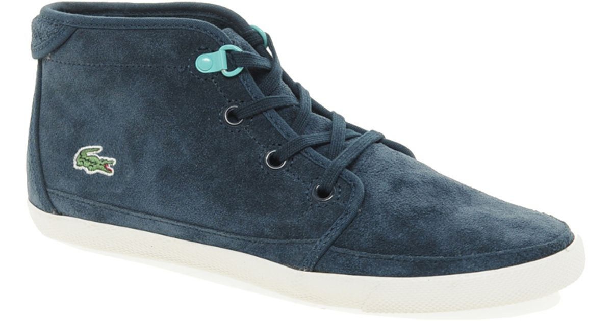 06938b5fd647e Lyst - Lacoste Ziane Chukka Lace Up Boots in Blue