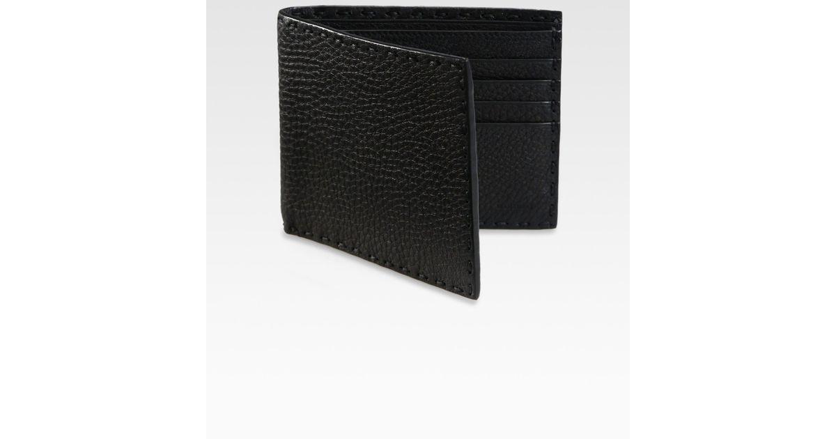 cb6c71f75c67 ... wholesale lyst fendi selleria basic leather wallet in black for men  17246 934b9 ...