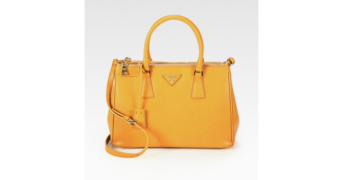 56a96d27cbb5 ... coupon for lyst prada saffiano lux tote in yellow 07b57 93de6