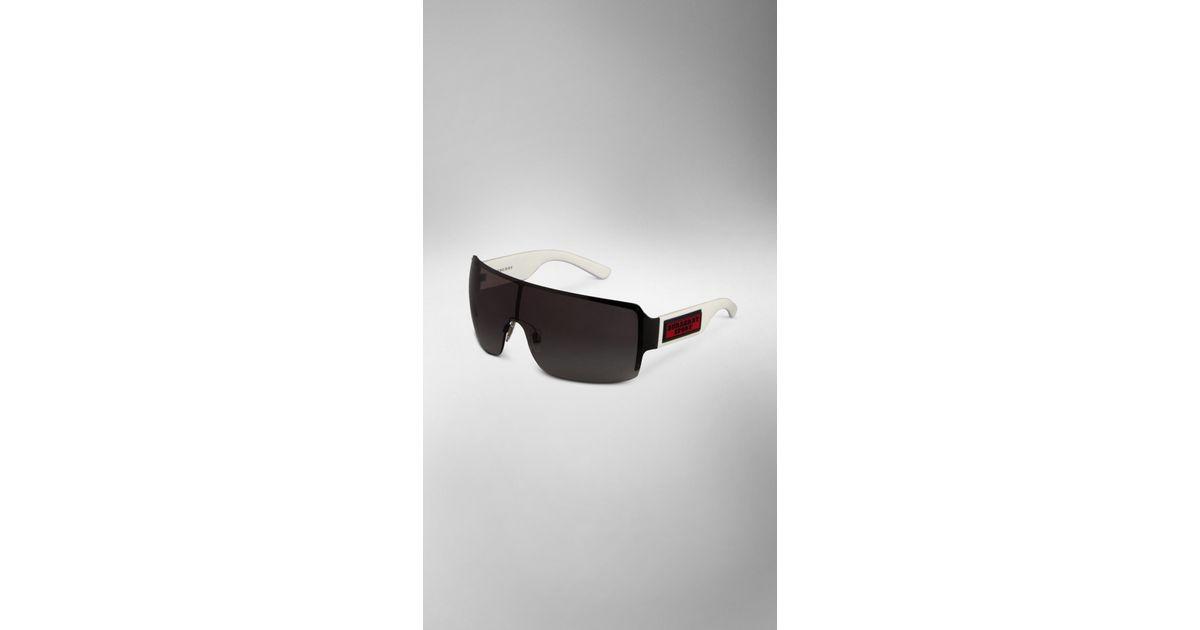 ef1255650e8 Lyst - Burberry Sport Mask Sunglasses in Black for Men