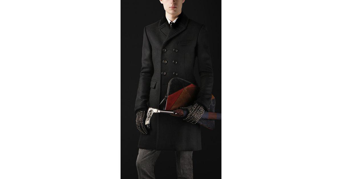 dcb892f39427 Burberry Prorsum Broad Velvet Collar Chesterfield Coat in Black for Men -  Lyst