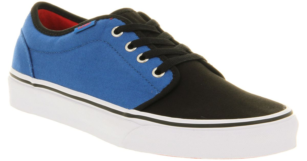 Vans 106 Vulcanized Nautical Blue Black in Blue for Men - Lyst 73ad77bb4