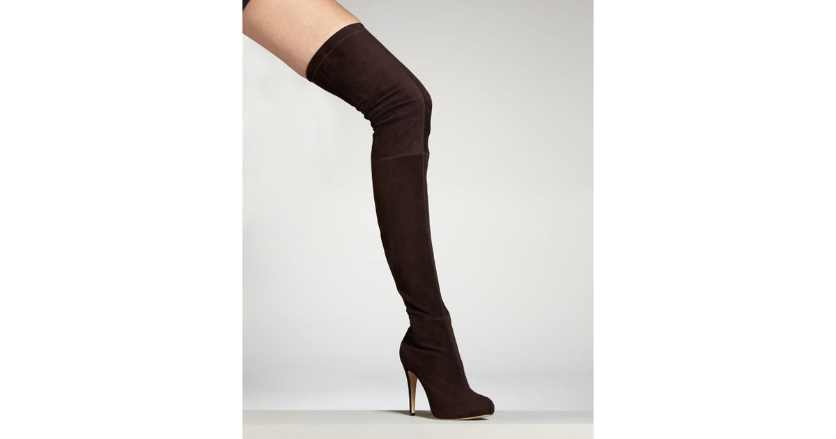 Brian Atwood Suede Over-The-Knee Boots cheap price free shipping OPu97V