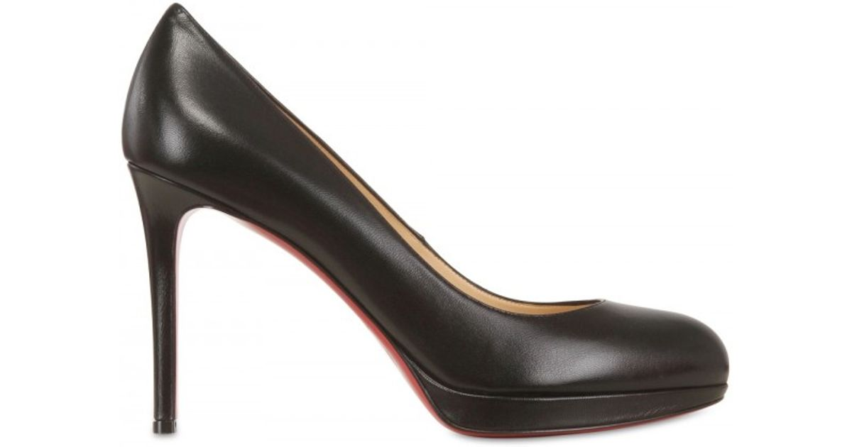 5b9fdf93bf17 Lyst - Christian Louboutin 100mm New Simple Pump Kid Pumps in Black