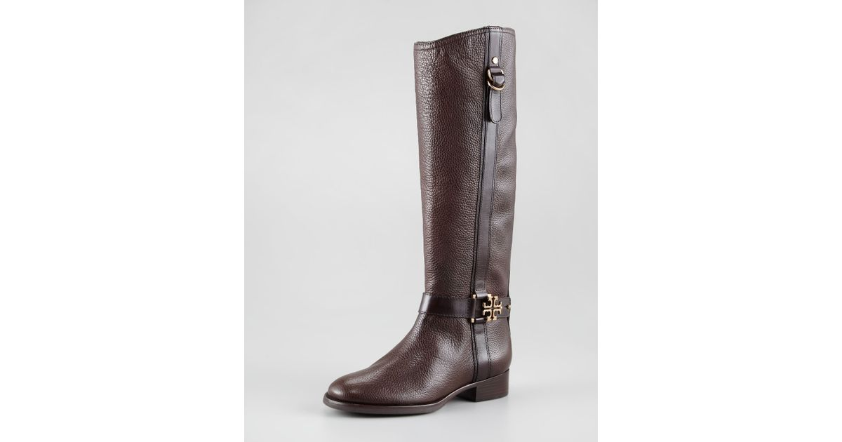 359957453108 Lyst - Tory Burch Elina Riding Boot in Brown