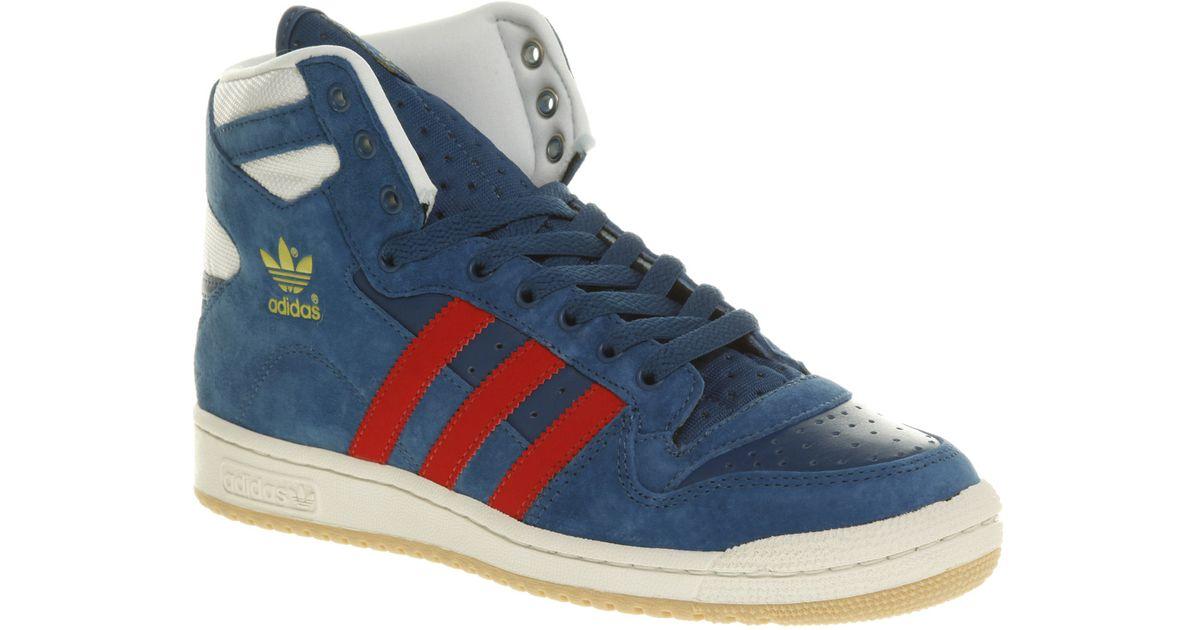 Adidas Blue Originals Decade Hi Trainers for Men Lyst  im Angebot