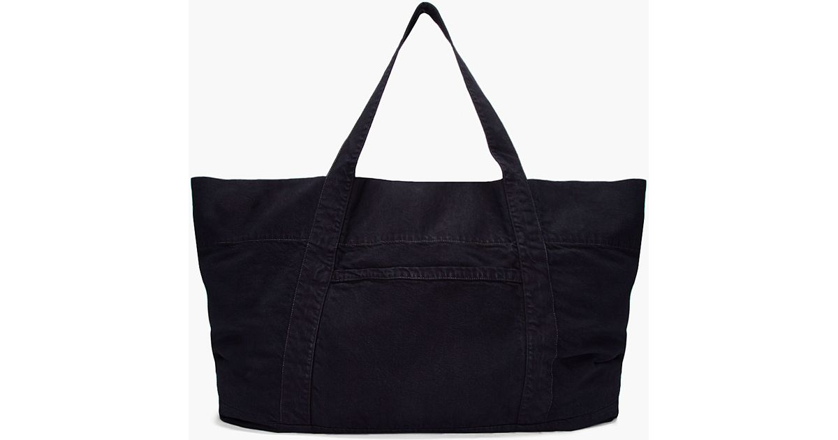 Lyst - DRKSHDW by Rick Owens Oversize Black Denim Beach Bag in Black for Men a6cb77ba0a004