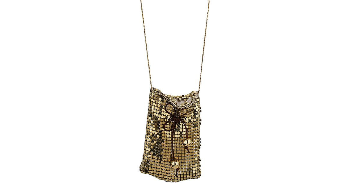 975f1444b52e5 Lyst - TOPSHOP Chain Pouch Necklace in Metallic