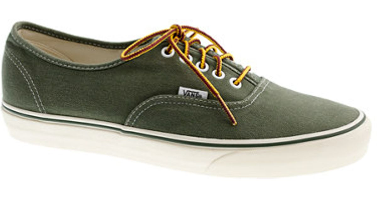 e6bb5d1630 Lyst - J.Crew Vans For Jcrew Washed Canvas Sneakers in Green for Men