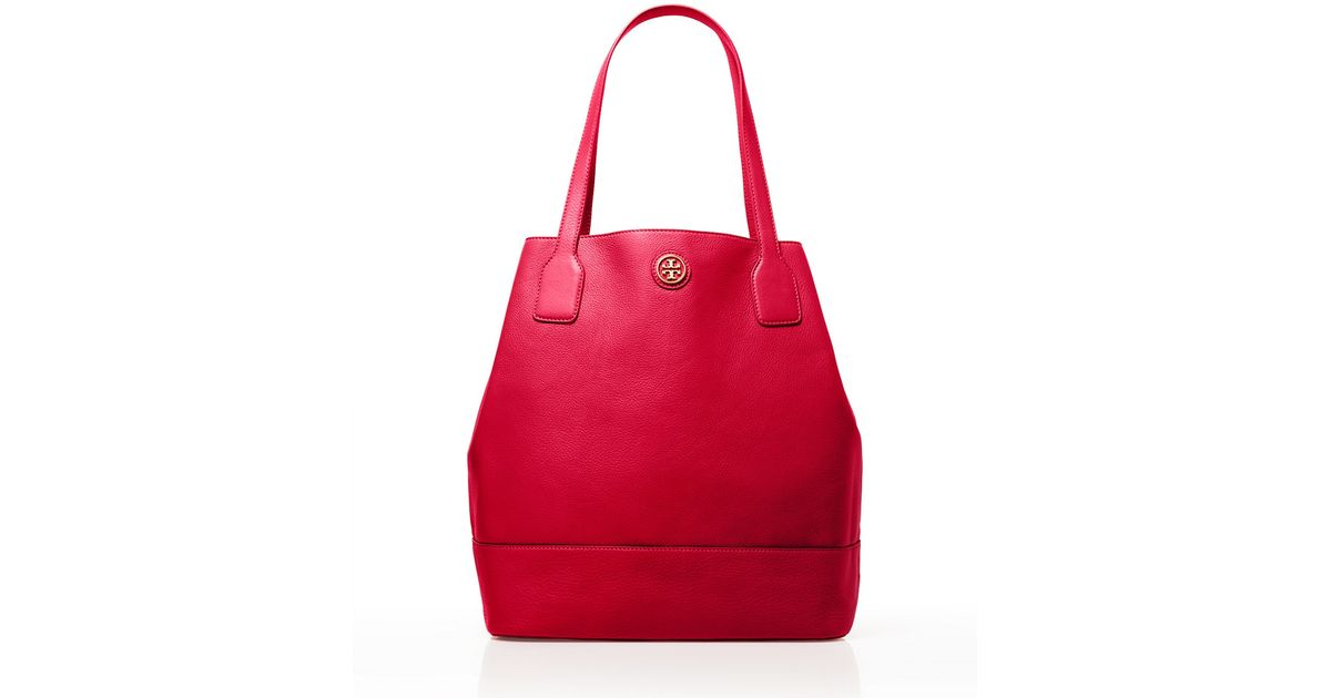 Tory Burch - Red Michelle Tote - Lyst 78b005fc37eae