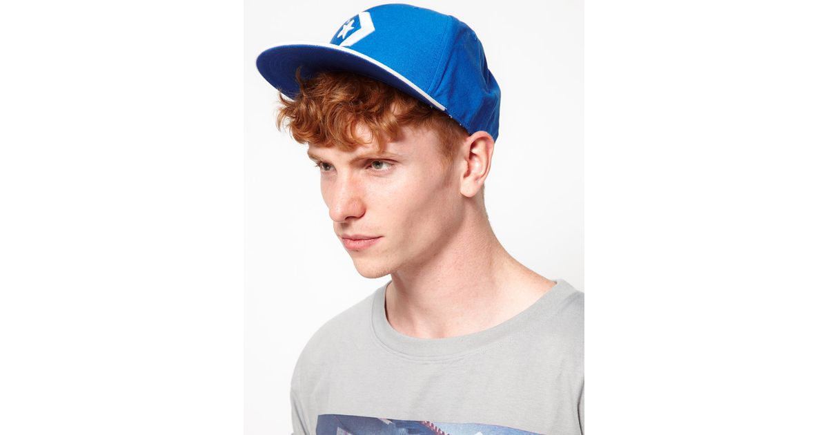 Lyst - Converse Snapback Cap in Blue for Men 932326c7f66
