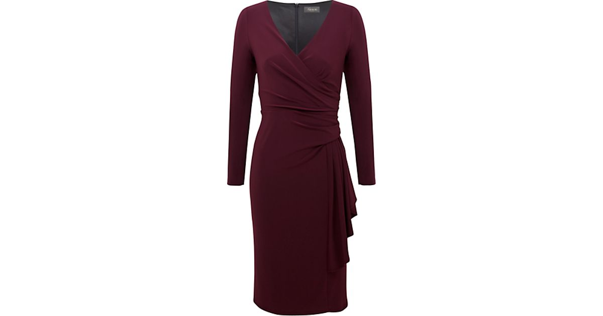 ac5ffbfa03 Alexon Dark Plum Long Sleeve Jersey Dress in Purple - Lyst