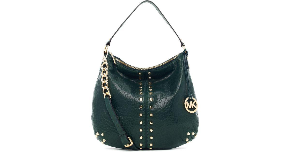 9518e9a06cd8 Lyst - MICHAEL Michael Kors Uptown Astor Large Shoulder Bag in Green