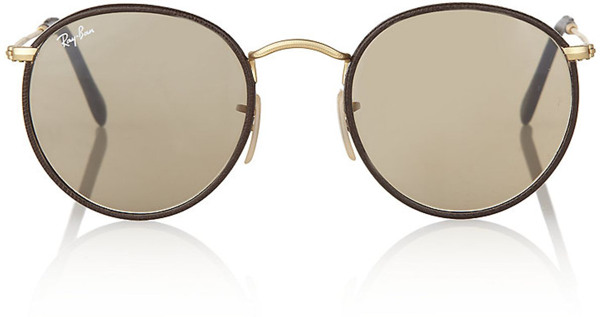 ray ban round sunglasses leather  ray ban round leather sunglasses product 1 4618515 794022296.jpeg