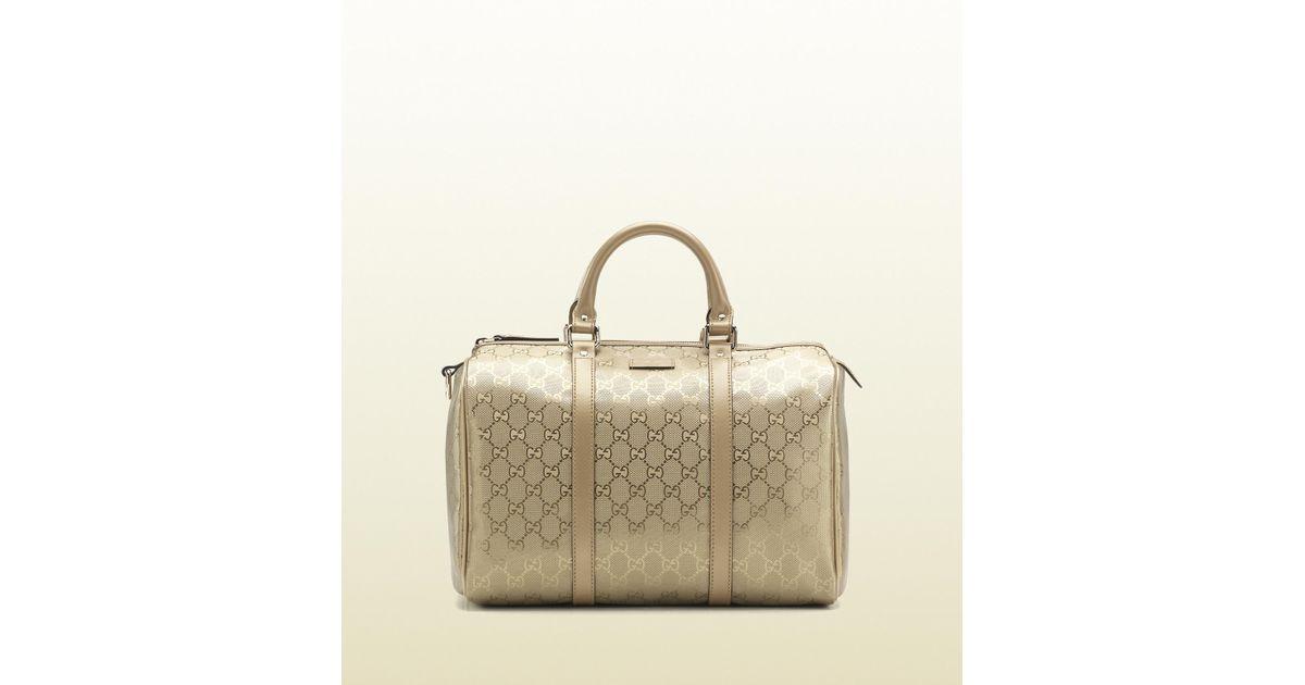 1bd024fc839 Lyst - Gucci Joy Boston Bag in Metallic