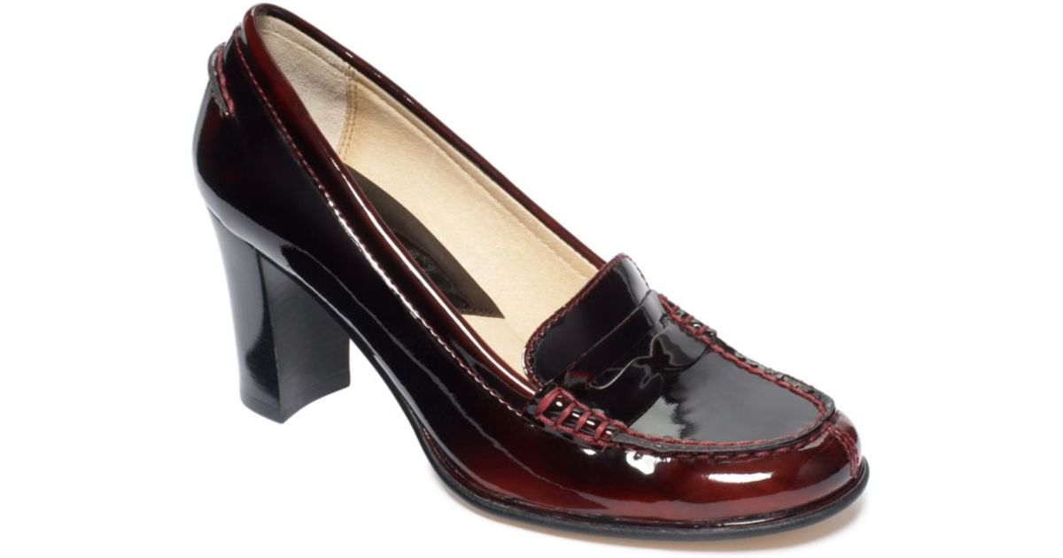 c444722b7fe Lyst - Michael Kors Bayville Loafers in Red