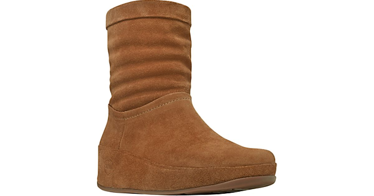 8127960cd9d4 Fitflop Fitflop Crush Suede Ankle Boots Brown Sugar in Brown - Lyst