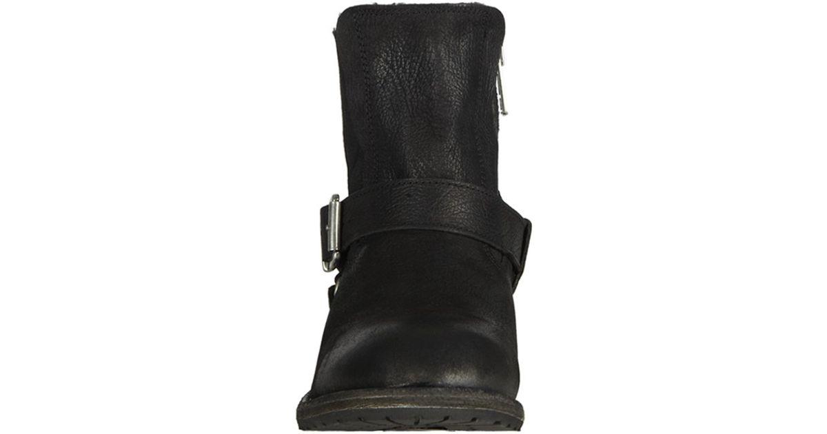 7eea7d11337883 Lyst - AllSaints Jules Shearling Boot in Black