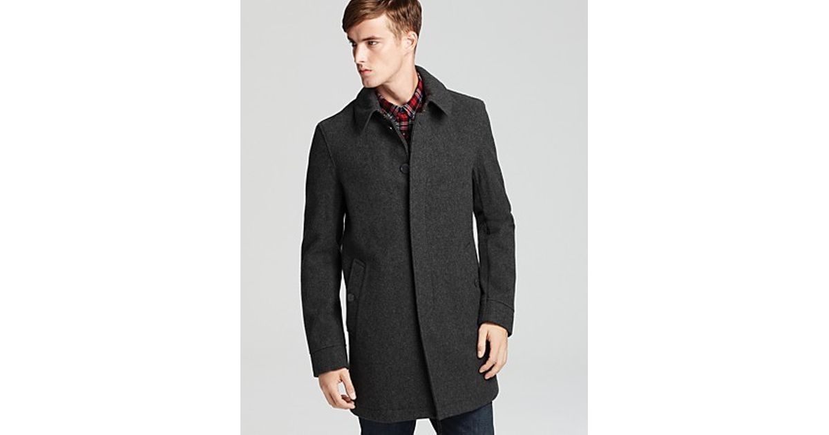 a0f954f16e9 Lyst - Burberry Bramwell Single Breasted Wool Coat in Gray for Men