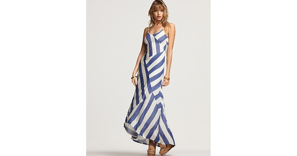 d7e565ea595b6 Lyst Ella Moss Penelope Striped Maxi Dress In White