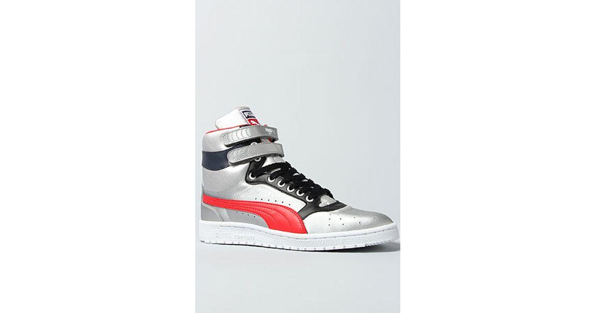 605a85fa431f Lyst - Puma The Sky Ii Hi Olympic Sneaker in Puma Silver High Risk Red  Black White in Metallic for Men