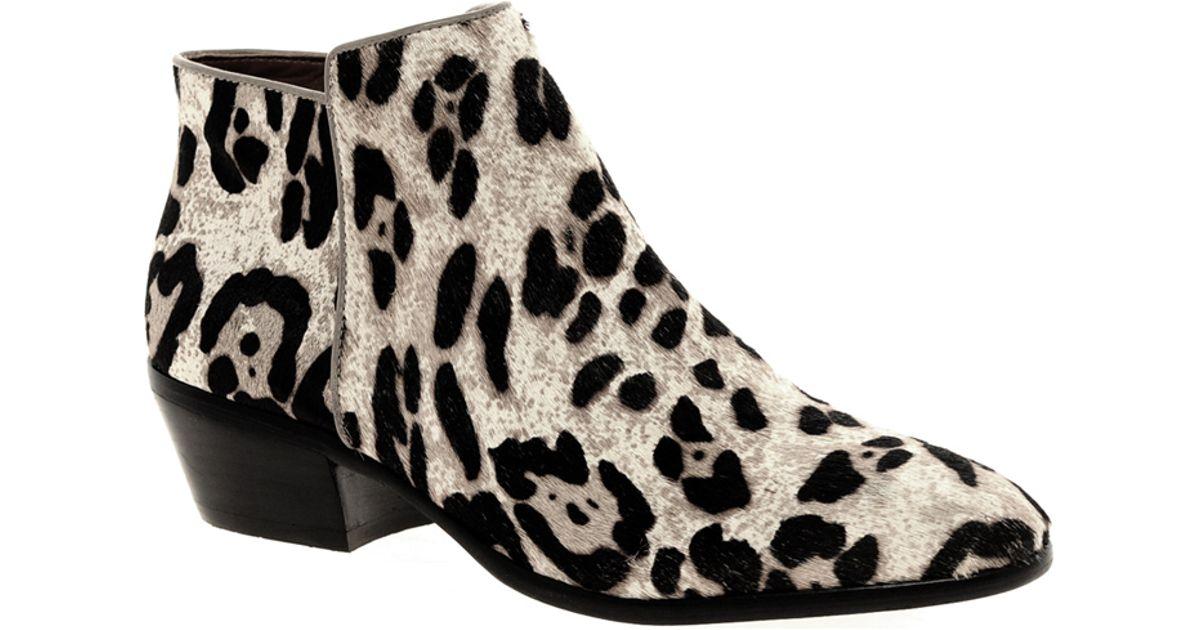 a4eb14d31505a Lyst - Sam Edelman Petty Leopard Ankle Boots