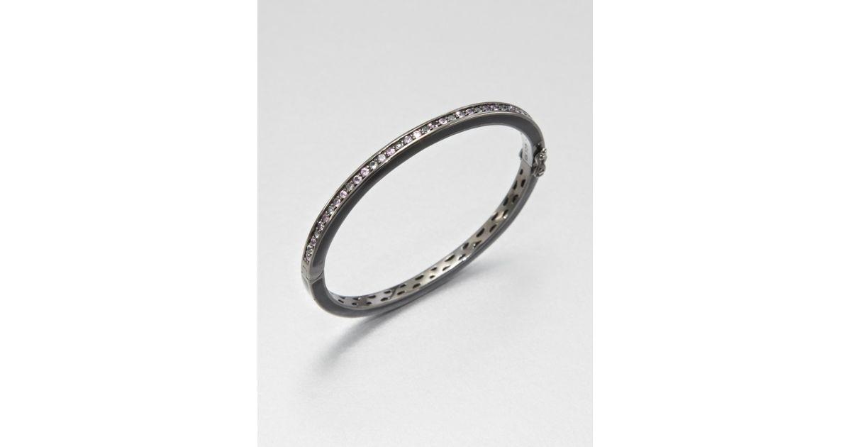 669b4322399c2 M.c.l Matthew Campbell Laurenza - Metallic Pink Sapphire Amethyst White  Topaz Sterling Silver Bracelet - Lyst