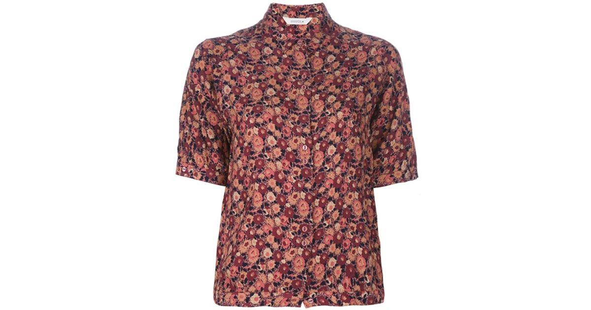 15f79623d5744d Sessun Eton College Blouse in Red - Lyst