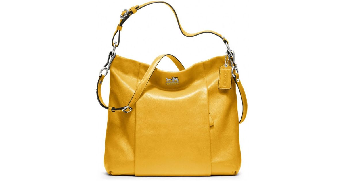 db0a597b6034 Lyst - COACH Madison Leather Isabelle in Yellow