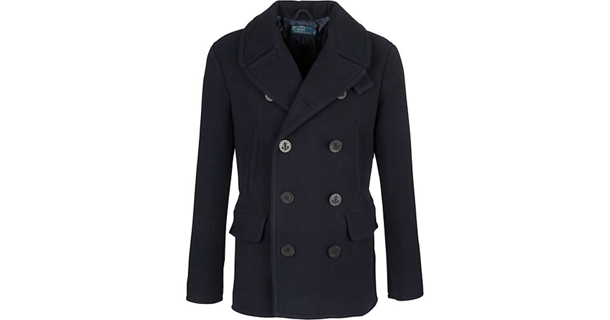 Polo Ralph Lauren Polo Ralph Lauren Academy Wool Pea Coat Navy in Blue for  Men - Lyst 8ac194b763d64