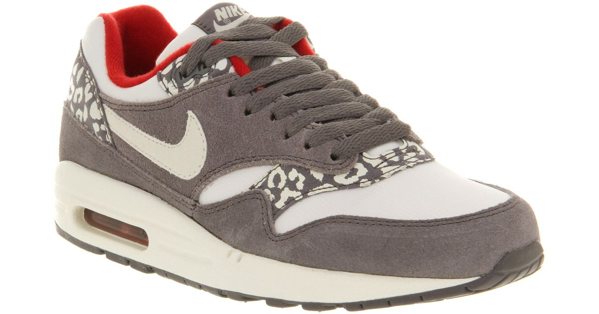wholesale dealer 24409 8c322 Lyst - Nike Air Max 1 L White Grey Snow Leopard in Gray for Men