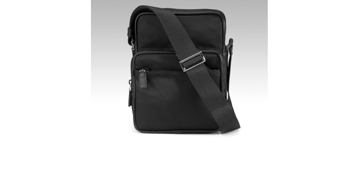 Prada Nylon Flight Bag in Black for Men | Lyst