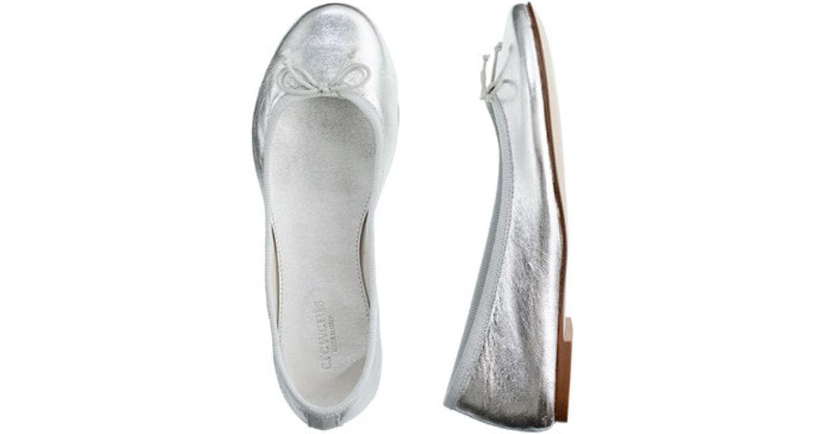 e02e0e8d6 J.Crew Girls Classic Metallic Leather Ballet Flats in Metallic - Lyst
