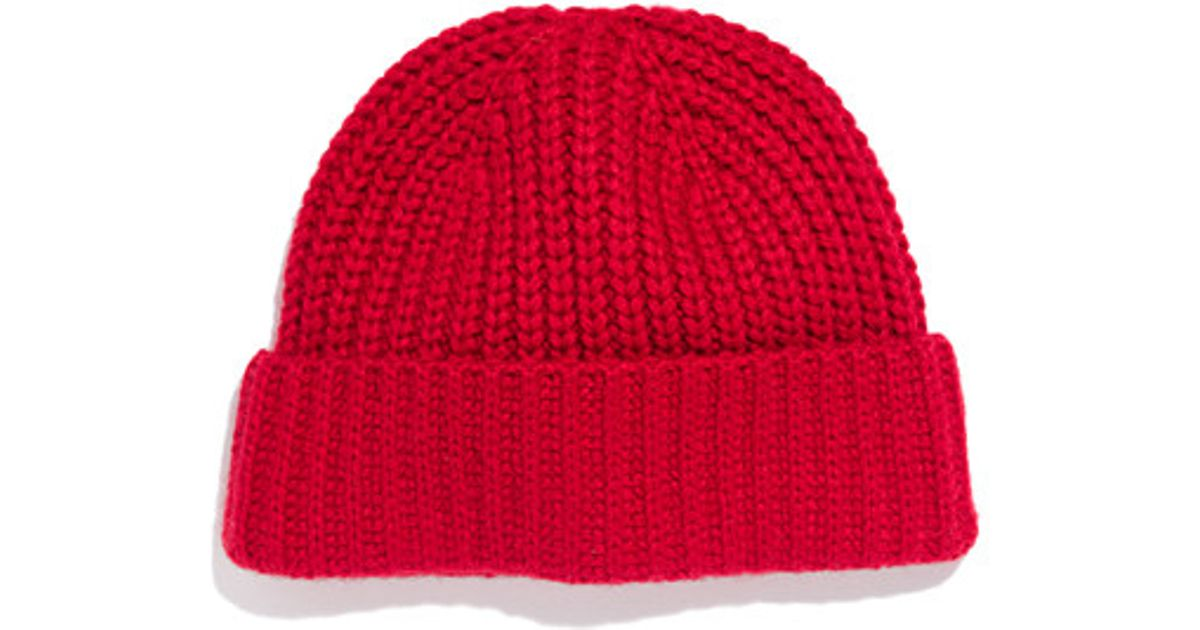 Lyst - Madewell Winter Hat in Red d6fe3dabd