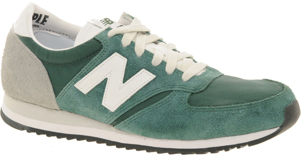 New Balance 420 Green Vintage Trainers