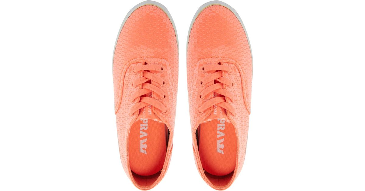 Wrap Wmns Neon CoralWhite Shoes Supra EDH9I2W