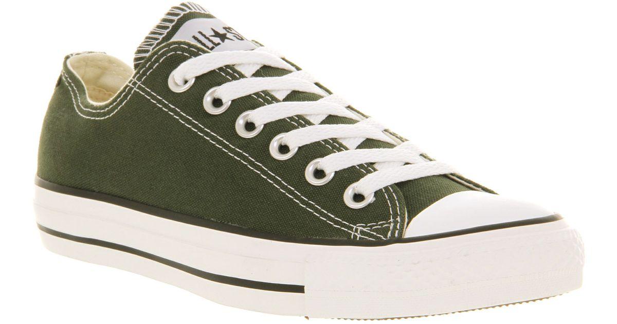 super popular 485ec 0975c Converse All Star Ox Low Zombu Green in Green for Men - Lyst