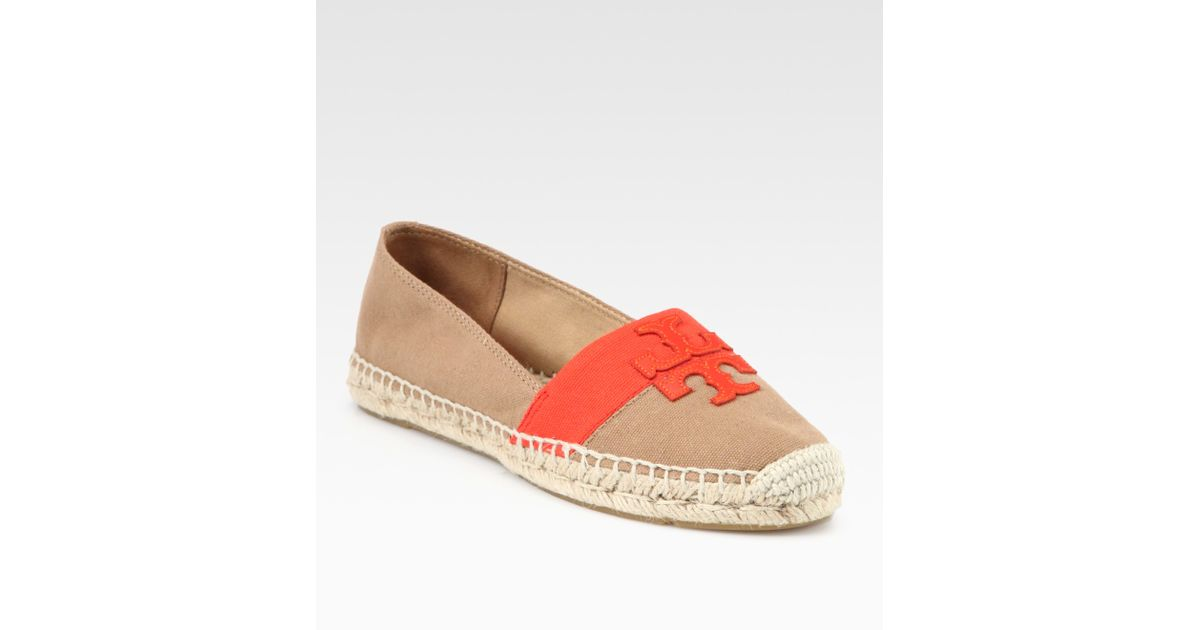 95684cc5442c Lyst - Tory Burch Weston Canvas Leather Espadrilles in Brown