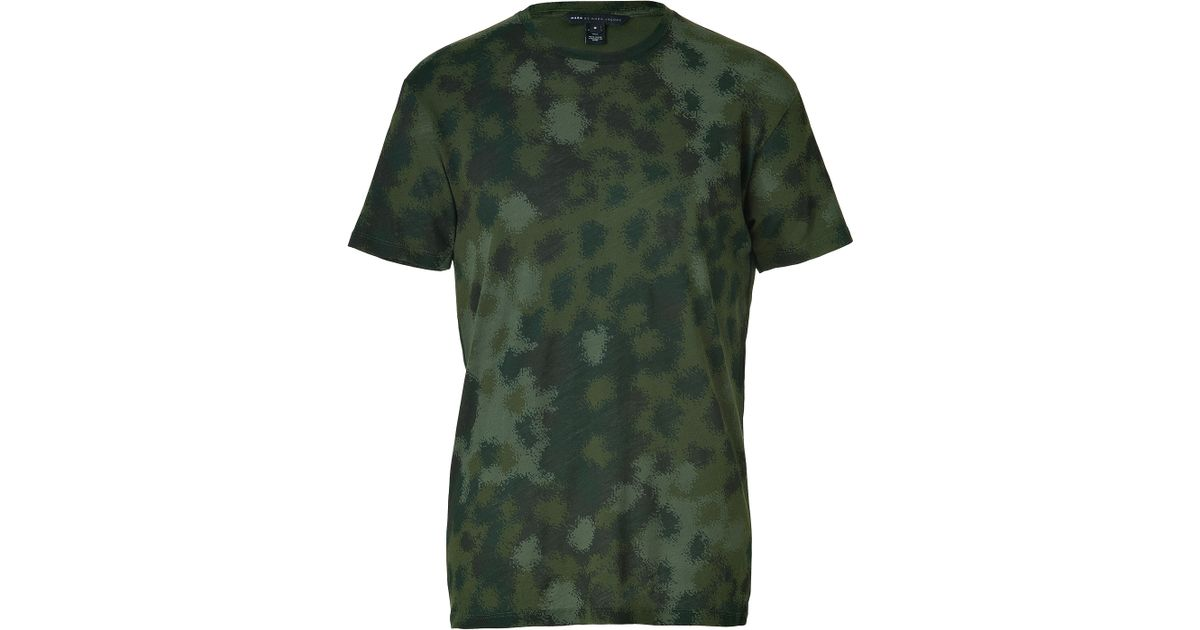 55b9b2ca Marc By Marc Jacobs Cotton Clement Camo T-Shirt in Green for Men - Lyst