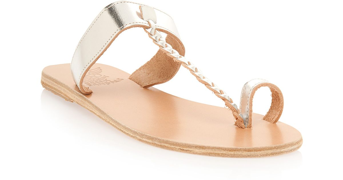 a17e8b3505f Lyst - Ancient Greek Sandals Braid Detail Toe Loop Sandal in Natural