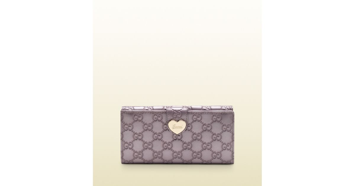 e66380a3071c Gucci Lilac Metallic Guccissima Leather Continental Wallet in Purple - Lyst