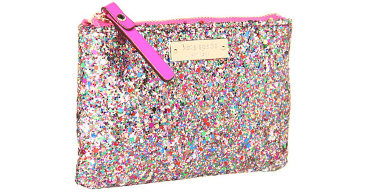 75c91705f1e3 Lyst Kate Spade New York Glitterball Coin Purse In Pink
