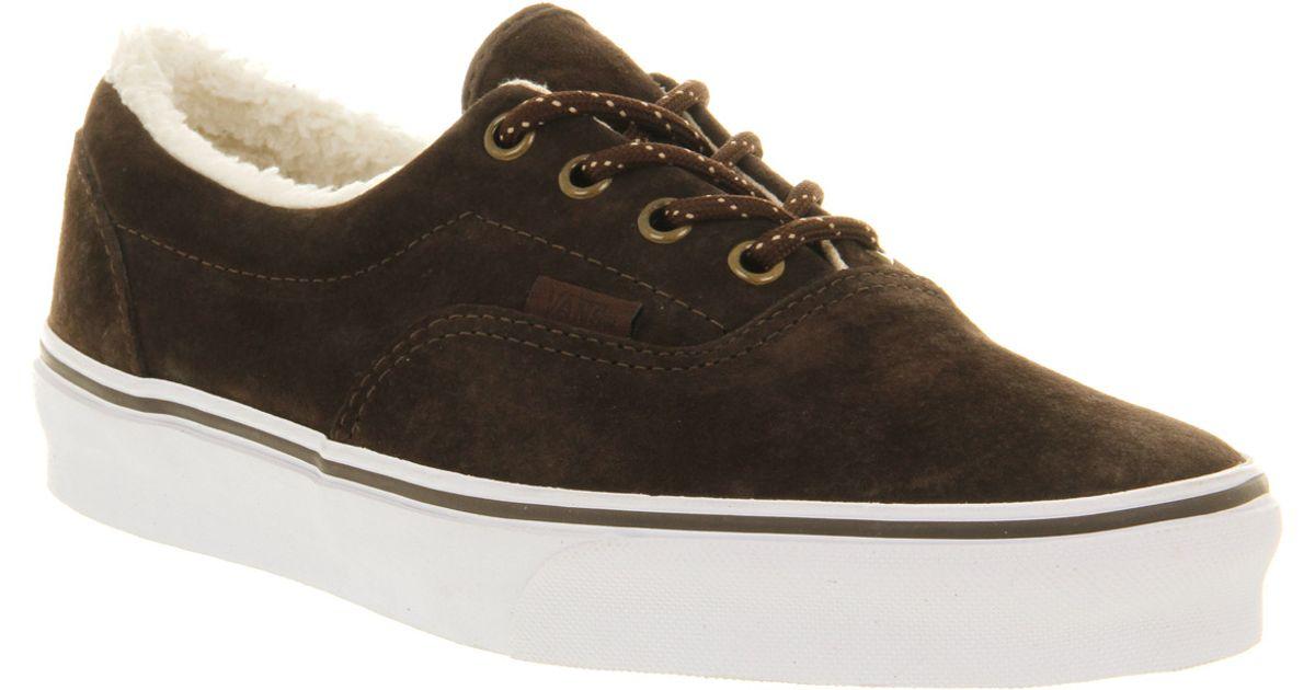 Lyst - Vans Era Fleece Brown Suede Fleece in Brown for Men dd4f9ed6b