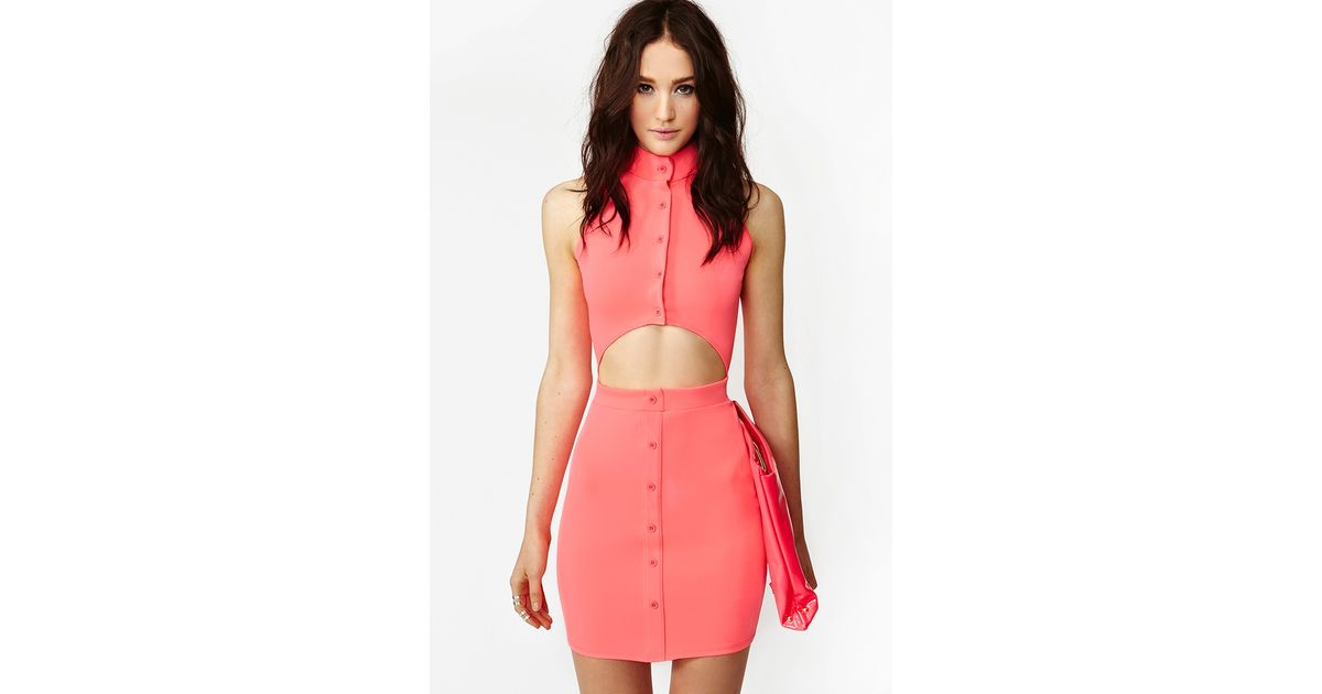 83cafb35c30 Nasty Gal Saints Sinners Dress Neon Pink in Pink - Lyst